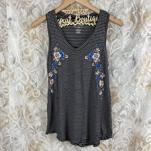 American Eagle outfitters floral striped tank top